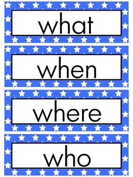 Journeys 2014 Kindergarten Word Wall (STAR)