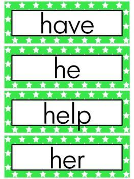 Journeys 2014 Kindergarten Word Wall (STAR)