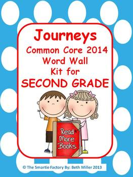 Journeys 2014 Second Grade Word Wall (Polka Dot)