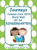 Journeys 2014 Kindergarten Sight Word Wall (Polka Dot)