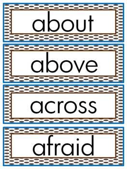Journeys 2014 Second Grade Word Wall (Brown Polka Dot)