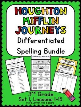 Journeys Differentiated Spelling Bundle Set 1, 3rd Grade