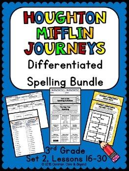 Journeys Differentiated Spelling Bundle Set 2, 3rd Grade