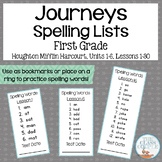 Journeys First Grade Spelling Lists Lessons 1-30