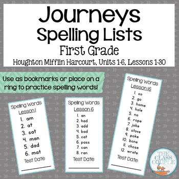 First Grade Spelling Lists Worksheets Teaching Resources TpT