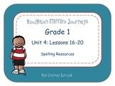 Houghton Mifflin Journeys Grade 1 Unit 4 Spelling Resources