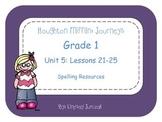 Houghton Mifflin Journeys Grade 1 Unit 5 Spelling Resources
