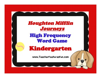 Houghton Mifflin Journeys High Frequency Word Game (Kindergarten)