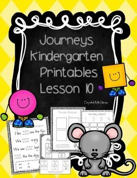 Journeys Lesson 10 Kindergarten Supplemental Materials