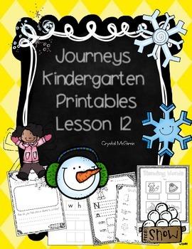Journeys Lesson 12 Kindergarten Supplemental Materials
