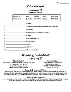 Journeys - HMH © 2011/2012 Grade 4 Lesson 13 Study Sheet