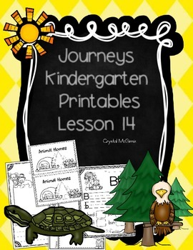Journeys Lesson 14 Kindergarten Supplemental Materials