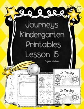 Journeys Lesson 15 Kindergarten Supplemental Materials