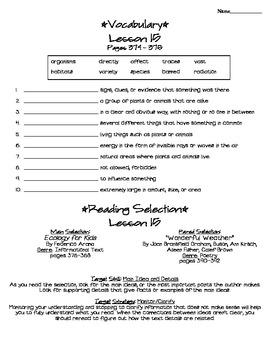 Journeys - HMH © 2011/2012 Grade 4 Lesson 15 Study Sheet