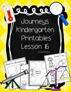 Journeys Lesson 16 Kindergarten Supplemental Materials