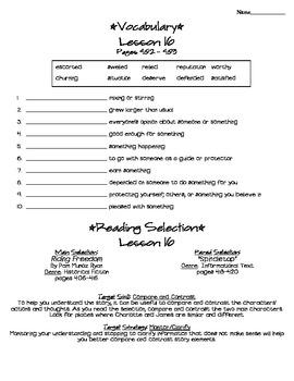 Journeys - HMH © 2011/2012 Grade 4 Lesson 16 Study Sheet