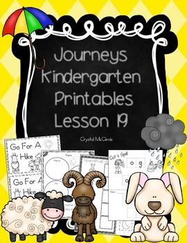Journeys Lesson 19 Kindergarten Supplemental Materials