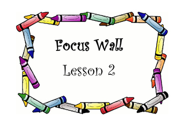 Houghton Mifflin Journeys Lesson 2 Focus Wall