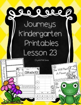 Journeys Lesson 23 Kindergarten Supplemental Materials