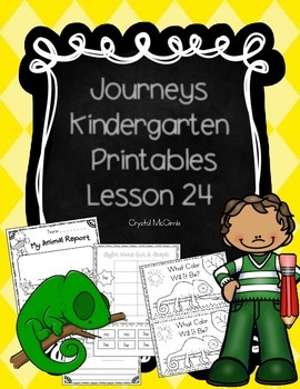 Journeys Lesson 24 Kindergarten Supplemental Materials