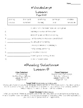 Journeys - HMH © 2011/2012 Grade 4 Lesson 05 Study Sheet