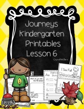Journeys Lesson 6 Kindergarten Supplemental Materials