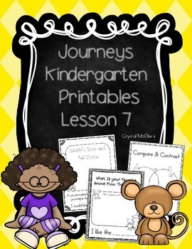 Journeys Lesson 7 Kindergarten Supplemental Materials