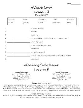 Journeys - HMH © 2011/2012 Grade 4 Lesson 08 Study Sheet