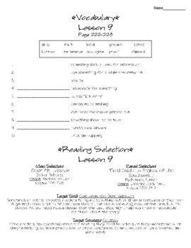 Journeys - HMH © 2011/2012 Grade 4 Lesson 09 Study Sheet