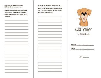 Journeys Old Yeller Brochure (Houghton Mifflin - Basal Reader)