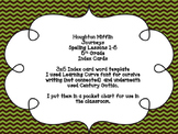 Houghton Mifflin Journeys Spelling Lessons 1-5 5th Grade Index Cards