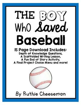 Houghton Mifflin Journeys: The Boy Who Saved Baseball