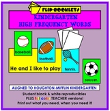 Houghton Mifflin Kindergarten High Frequency Word Sentences