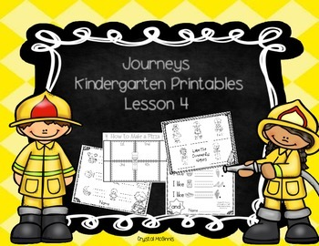 Journeys Lesson 4 Kindergarten Supplementary Printables