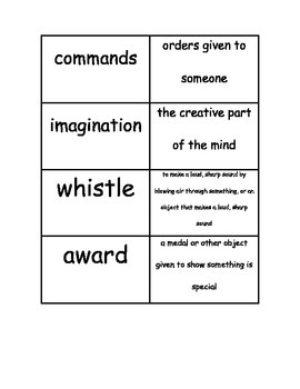 Houghton Mifflin Leveled Readers Vocabulary Match: Officer Buckle Stories