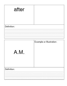 Houghton Mifflin Math Visual Dictionary Packet
