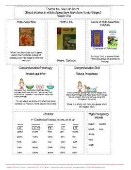 Houghton Mifflin Mini-Focus Wall Theme 10 Weeks 1-3