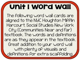 Houghton Mifflin New York City Unit 1 Word Wall