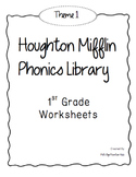 Houghton Mifflin Phonics Library: 1st Grade - Theme 1 Worksheets