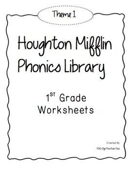 Houghton Mifflin Phonics Library: 1st Grade - Theme 1 Worksheets