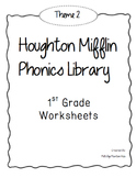 Houghton Mifflin Phonics Library: 1st Grade - Theme 2 Worksheets