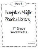 Houghton Mifflin Phonics Library: 1st Grade - Theme 3 Worksheets