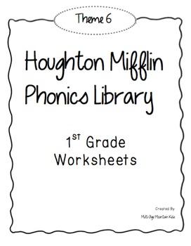 Houghton Mifflin Phonics Library: 1st Grade - Theme 6 Worksheets