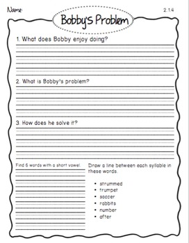 Houghton Mifflin Phonics Library: 2nd Grade - Theme 1 Worksheets
