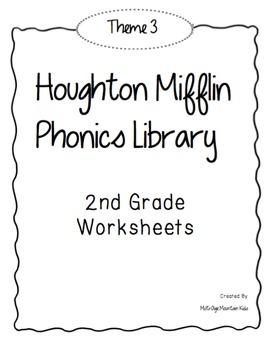 Houghton Mifflin Phonics Library: 2nd Grade - Theme 3 Worksheets