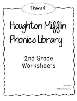 Houghton Mifflin Phonics Library: 2nd Grade - Theme 4 Worksheets
