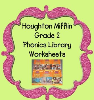 Houghton Mifflin Phonics Reader Worksheets Themes 1-6  Grade 2