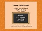 Houghton Mifflin Reading 1st Grade Theme 3 Focus Wall