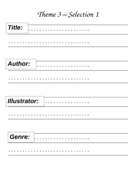 Houghton Mifflin Reading 2nd Grade Theme 3 Focus Folder / Portfolio