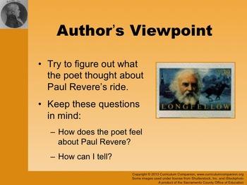 Houghton Mifflin Reading Gr 5 Paul Revere's Ride General Common Core Standards
